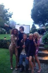 (L -R) Mel B, Liam Gallagher, Dominic Howard, Geri Halliwell, Emma Bunton