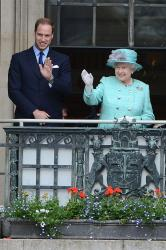 Prince William, Queen Elizabeth and Duchess Catherine in Nottingham
