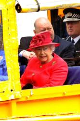 Queen Elizabeth on a Duckboat