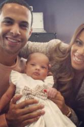 Marvin and Rochelle Humes with Alaia-Mai