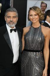 George Clooney and Stacy Keibler at the Oscars