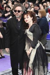 Tim Burton and Helena Bonham Carter at the London premiere of Dark Shadows