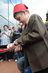 Young fan opens the Doctor Who Experience
