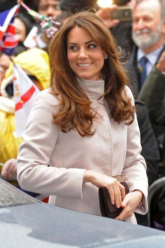 The Duchess with her new hairstyle
