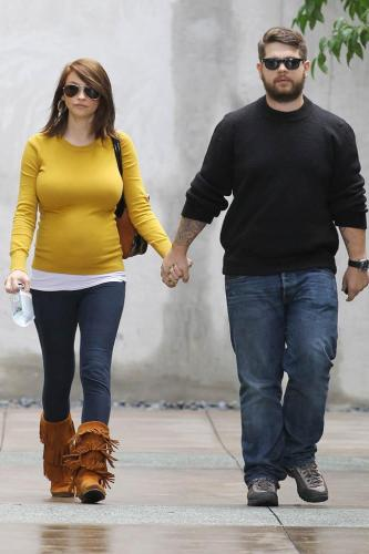 Lisa Osbourne with husband Jack during her pregnancy
