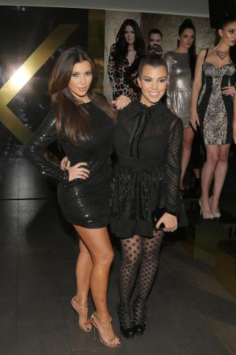 Kim and Kourtney Kardashian at the launch