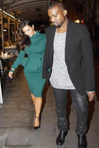 Kim Kardashian and Kanye West in Rome