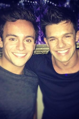 Leandro Penna and Tom Daley in London