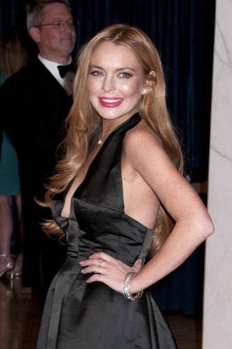 Lindsay Lohan at the White House Correspondents' Association dinner