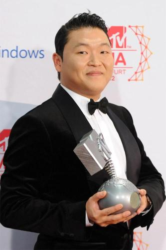 PSY at the MTV EMAs in Frankfurt, Germany