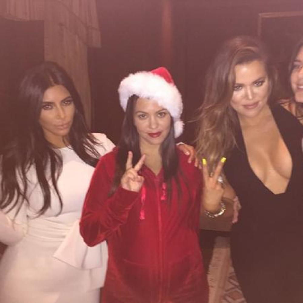 Kardashians enjoy Christmas party