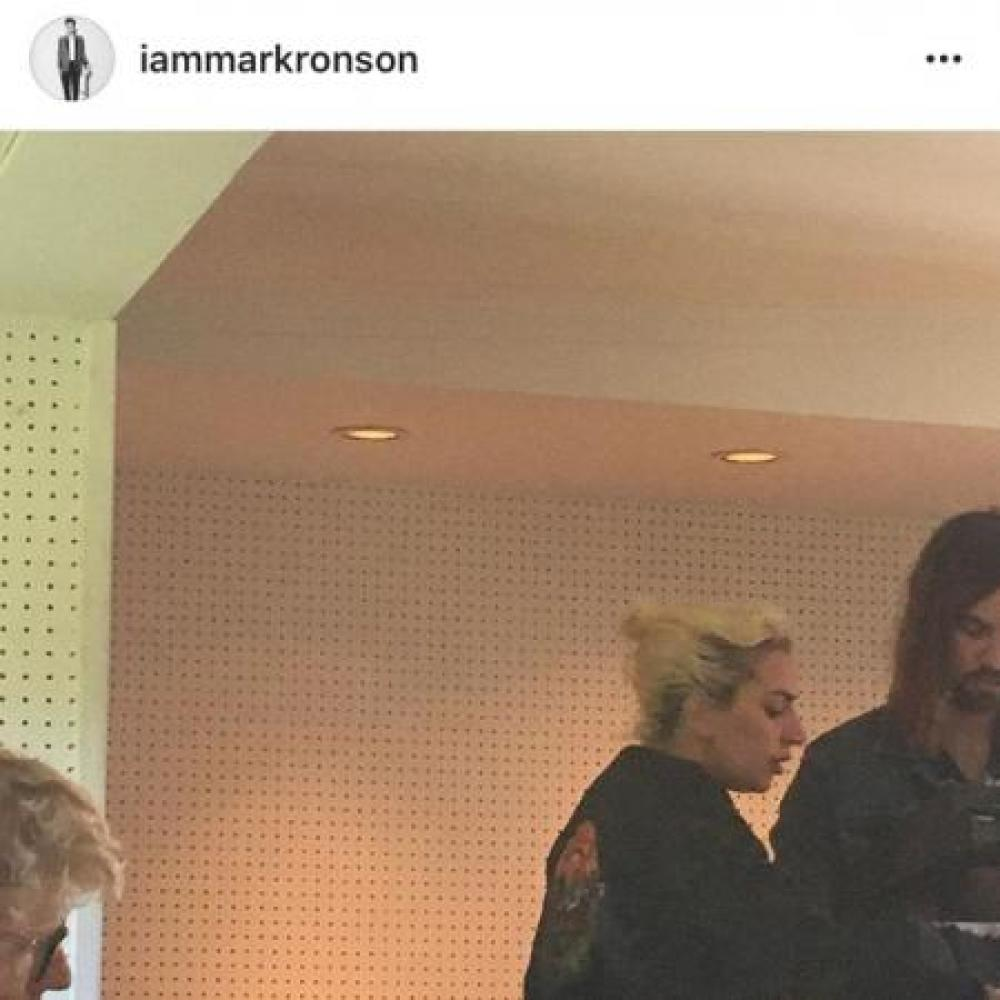 Mark Ronson in studio with Lady Gaga and Kevin Parker