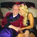 Hugh Hefner with ex fiancee Crystal Harris