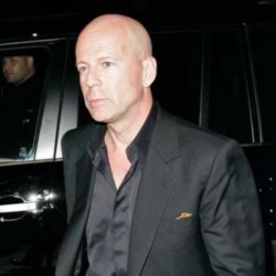 Bruce Willis happy in love