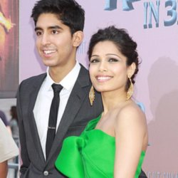 Dev Patel and Frieda Pinto