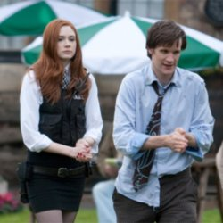 Doctor Who stars Karen Gillan and Matt Smith