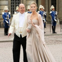 Charlene Wittstock with fiance Prince Albert