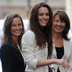 Duchess Catherine with Pippa and Carole Middleton