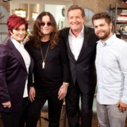 Jack, Sharon and Ozzy Osbourne with Piers Morgan on his CNN show