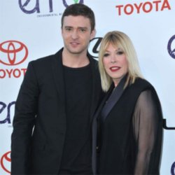 Justin Timberlake with EMA President Debbie Levin