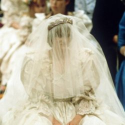 Princess Diana on her wedding day