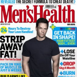 Mark Wahlberg on the January/February issue of Men's Health