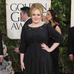 Adele walked the red carpet in Burberry