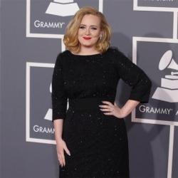 Adele at the Grammys last night