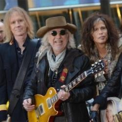 Tom Hamilton, Brad Whitford and Steven Tyler