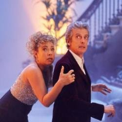 Alex Kingston and Peter Capaldi in a Doctor Who Christmas Special / Picture Credit: BBC