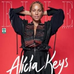 Alicia Keys on the cover of Elle Brazil