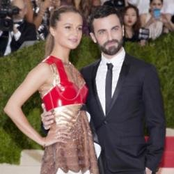 Alicia Vikander and Nicolas Ghesquière