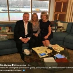 Amy Walsh with Ruth Langsford and Eamonn Holmes (c) This Morning/ Twitter