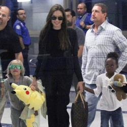 Angelina Jolie with Shiloh and Zahara