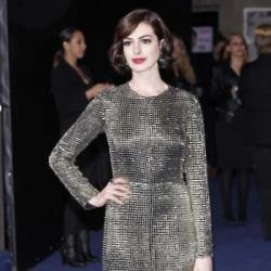 Anne Hathway made a statement in her embellished dress