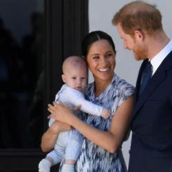Duchess Meghan and Prince Harry with son Archie