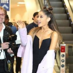 Ariana Grande in London earlier in the day