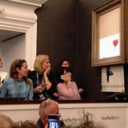 Banksy shredded artwork