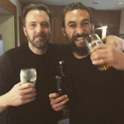 Ben Affleck and Jason Momoa at the 'Justice League' wrap
