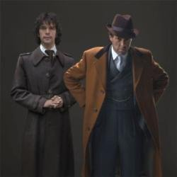 Ben Whishaw and Hugh Grant in A Very English Scandal