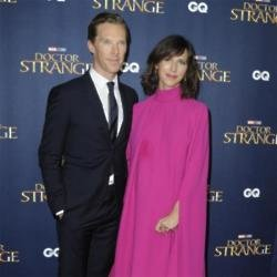 Benedict Cumberbatch and Sophie Hunter at Doctor Strange premiere