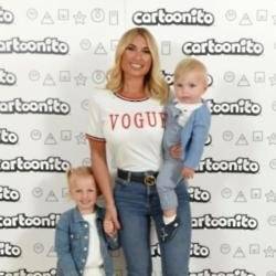 Billie Faiers with Nelly and Arthur