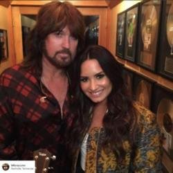 Billy Ray Cyrus and Demi Lovato [Instagram]