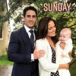 Binky Felstead and Josh Patterson with baby India (c) Instagram