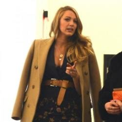 Blake Lively leaving the Michael Kors show