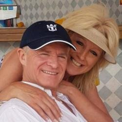 Bobby Davro and Vicky Wright [Twitter]