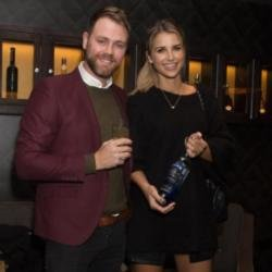 Brian and Vogue at the Glen's Platinum vodka partnership launch