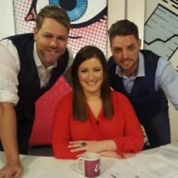 Brian McFadden, Elaine Crowley, and Keith Duffy