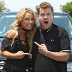 Britney Spears and James Corden [Instagram]