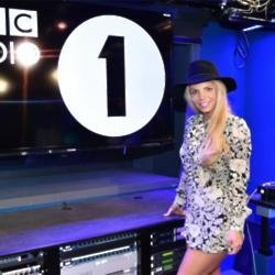 Britney Spears at the Radio 1 studios